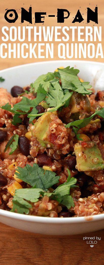 Southwestern Chicken Quinoa   LOLO❤︎