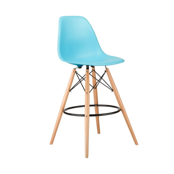 Barstool Slope Chair In Aqua Dotandbo Com Kitchen