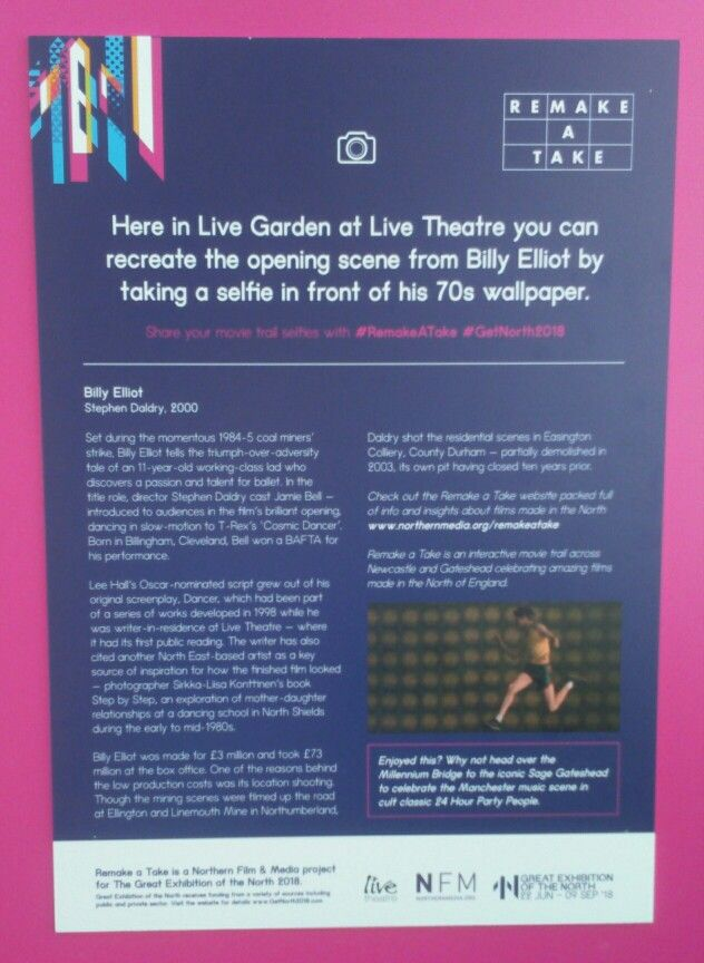 Information about the wallpaper in the film Billy Elliot Live