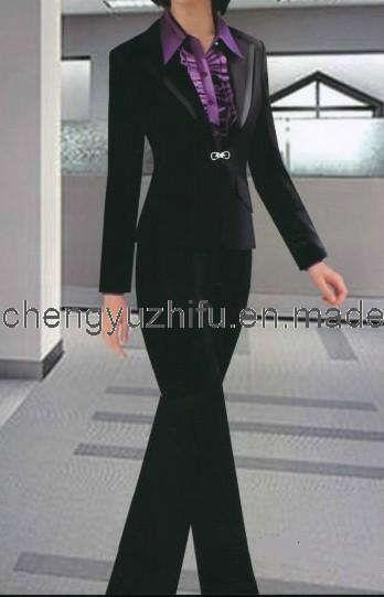 | Black Ladies Pant Suit - China Suit,Women's Suit