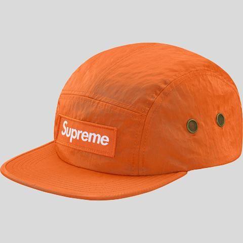 82f23008210 Supreme Washed Nylon Camp Cap Orange