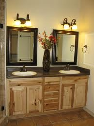 Hickory And Dark Countertops Bathroom Inspiration