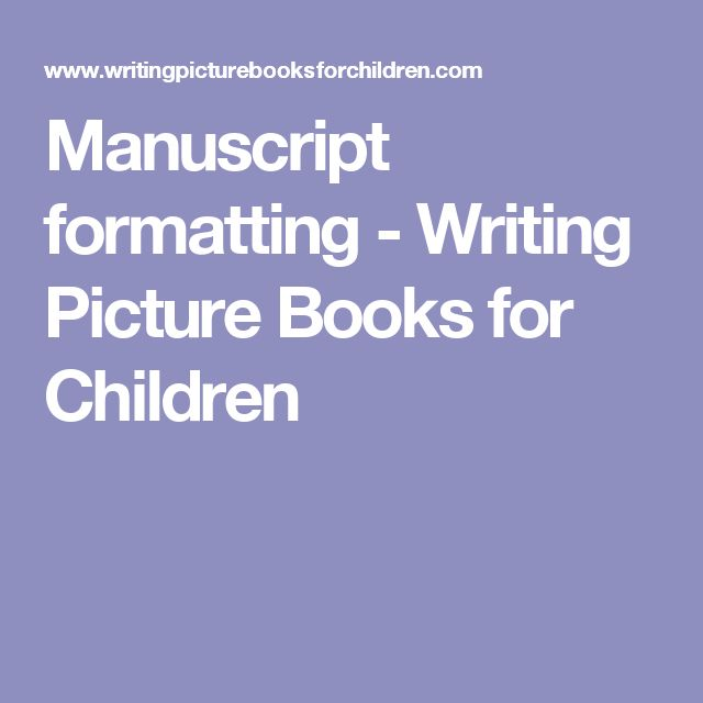 Writing Picture Books For Children