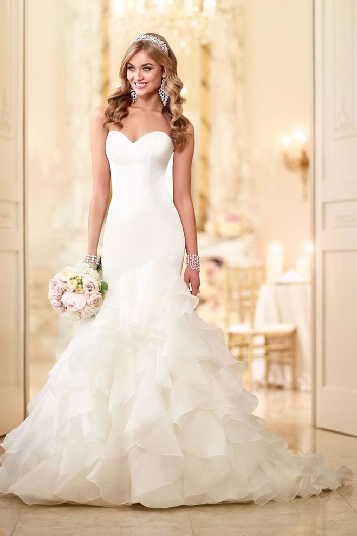 603 best wedding dresses ruffles images on pinterest wedding ask the experts where can i find a mermaid gown that isnt lace satin wedding dresseswedding ombrellifo Choice Image
