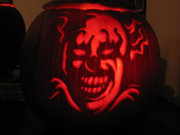 Demon Face Scary Pumpkin Carving Patterns - Patterns Kid
