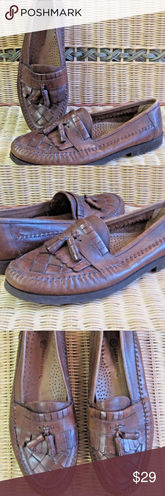 "Earth Shoe Loafers Dale II Brown Leather Tassel Earth Shoe Mens Loafers Dale II Size 11 D Brown Leather Tassel Slip On Loafer  Item condition:Pre-owned ""gently worn"" Earth Shoes Loafers & Slip-Ons"