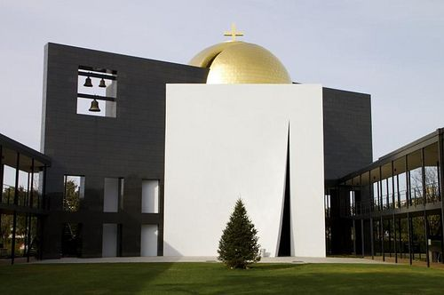 Philip Johnson, Chapel of St. Basil. Located at Houston's University of St. Thomas