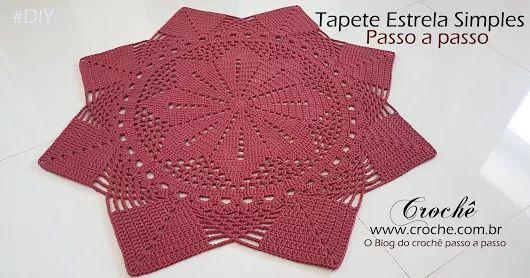 Tapete Patchwork Simples : Estrela na Pintereste Croche Tapete, Tapete Em Croche a Croch?