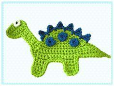Dinosaur crochet applique