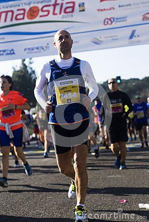 Roma-Ostia Half Maraton 41 - Runners on the Roma-Ostia half maraton, 41st edition on Sunday, March 1, 2015. Photo taken on: March 01st, 2015