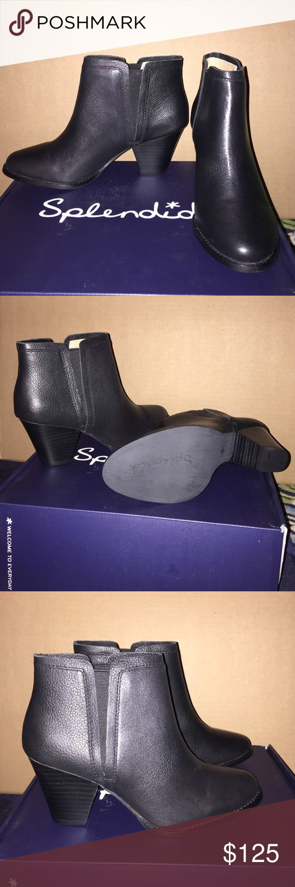 """Splendid Slip-on Bootie This is brand new, has not been worn, padded footbed, 3"""" heel, pebbled leather construction. Comes with box. Price is now negotiable. Splendid Shoes Ankle Boots & Booties"""