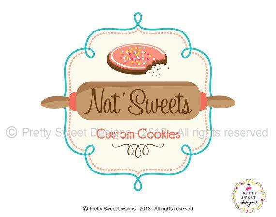 Fun bakery Logo design y MyPrettySweetDesigns on Etsy, $180.00