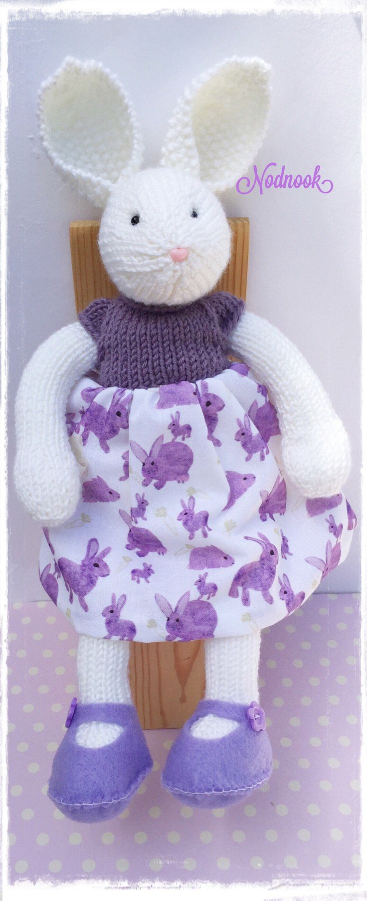 A personal favourite from my Etsy shop https://www.etsy.com/uk/listing/520642276/knitted-bunny