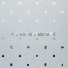 Etched Glass - Star Star A popular and contemporary glass design with small clear stars, the background is frosted.Available in stock sheet sizes up to 1120mm x 2240mm. Buy a sample or call us to discuss specific requirements. We can supply your glass cut to size, laminated (safety glass) and with patterns cut to run and appear centralised in your window. Please call...