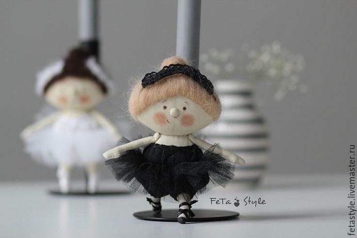 Купить Балет, балет... Балерины Черный & Белый Куклы текстильные - текстильная кукла купить
