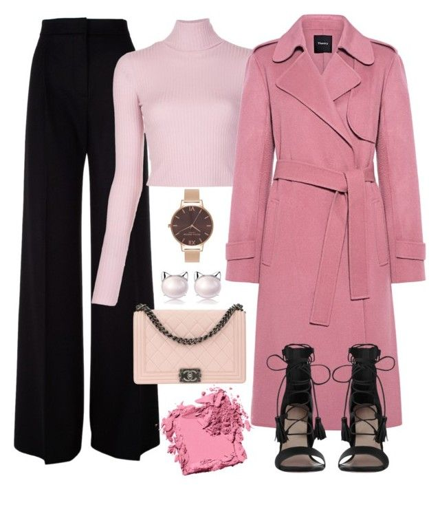"""""""pretty in pink"""" by pepito-sutrisno on Polyvore featuring MaxMara, A.L.C., Theory, Zimmermann, Chanel, Olivia Burton and Bobbi Brown Cosmetics"""