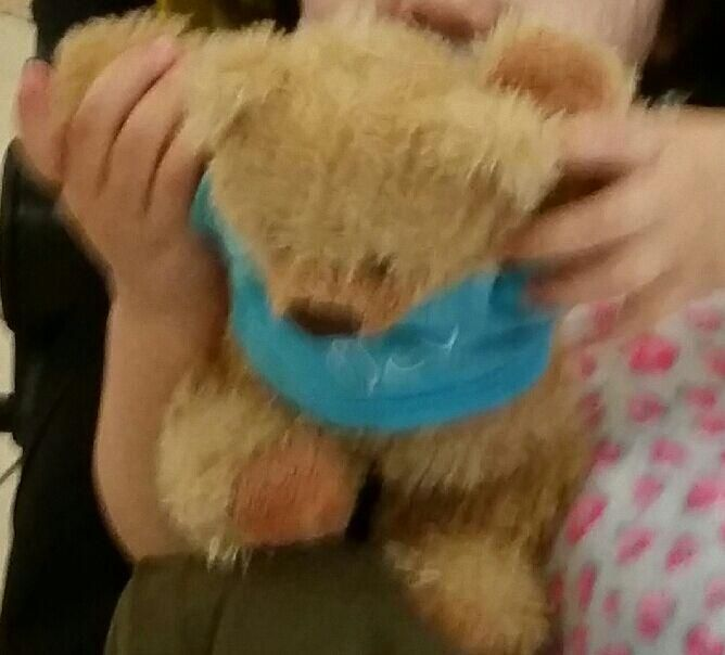 Lost on 23/03/2015 @ singapore. My little girl lost her favourite teddy on the first day of our trip to singapore in the raffles city mall. It's a sandy brown teddy with a blue jumper that's says hugs or hug me on it. Visit: https://whiteboomerang.com/lostteddy/msg/s8av81 (Posted by situl on 17/04/2015)