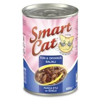 Smart Cat Ton ve Okyanus Balıklı Kedi Konservesi
