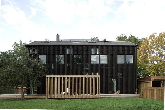 Les 14 meilleures images propos de facades bois sur - Rouge de falun ...