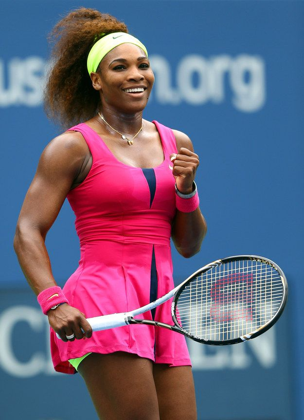 When she gave us illusion slits in her neon pink dress at the 2012 US Open:   21 Times Serena Williams Slayed The Tennis Court