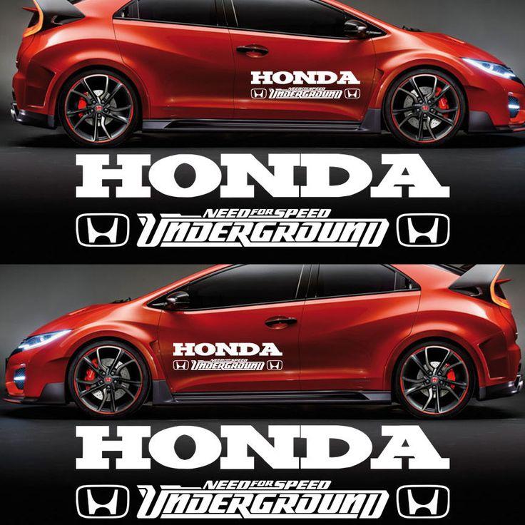 Custom Subaru Emblem >> Honda Civic Decal Sticker Decal Graphics Racing Emblem ...