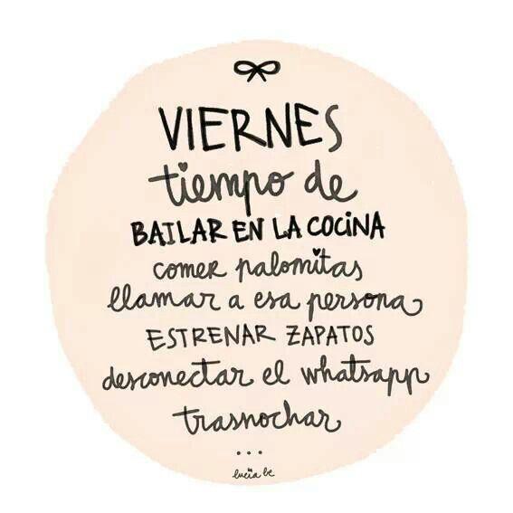 Feliz último viernes del año. Disfrutadlo como se merece, porque nos encantan los viernes.