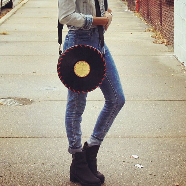 Leather Songbag vinyl record bag www.thesongbag.com
