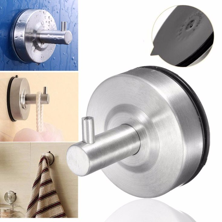 304 Stainless Steel Suction Cup Bathroom Wall Hooks for Clothes Smooth Surface Wall Hanger Bathroom Accessories #Affiliate