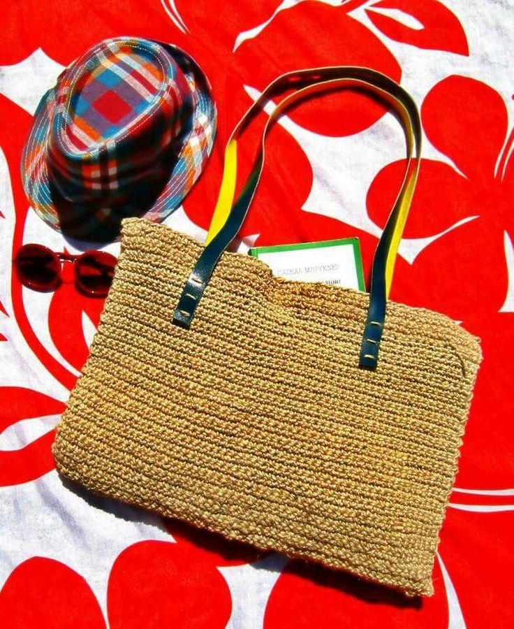 SUMMER SHOULDER BAG - Hemb Cord // Leather Straps