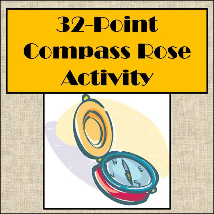Compass rose activity 32direction compass rose lesson