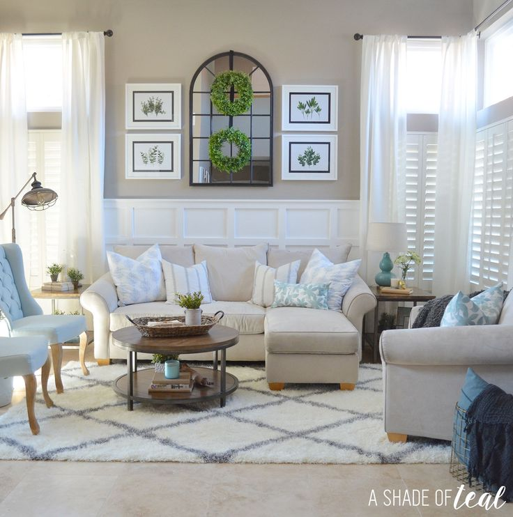 Modern Rustic Dining & Living Room // ORC: Living Room Reveal  with Rugs USA's Moroccan Diamond Shag!