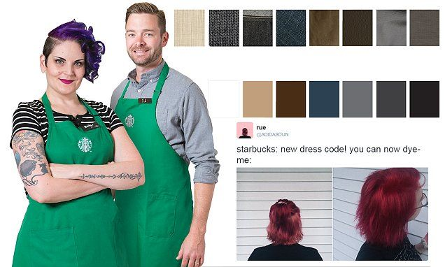 Starbucks releases new dress code urging staff to 'open closets and have fun' | Daily Mail Online