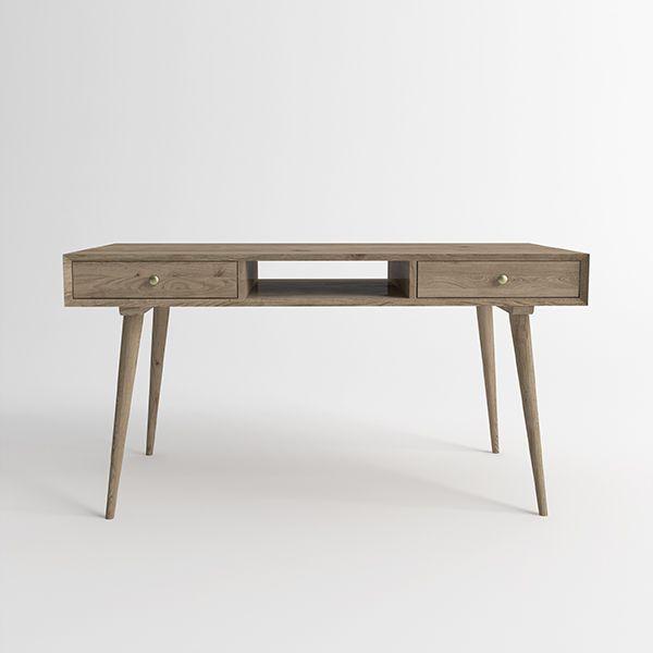 Письменный стол Jordan из натурального дерева. Артикул: D001. Размеры ДхШхВ: 135x60x75 см. Материал: дуб. Цвет: натуральный дуб