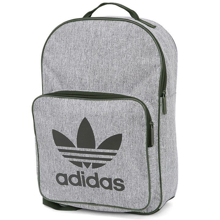7c20aa51 adidas Classic Casual Backpack Gray Khaki School University Bag Rucksack  CD6058 #adidas #Backpacks
