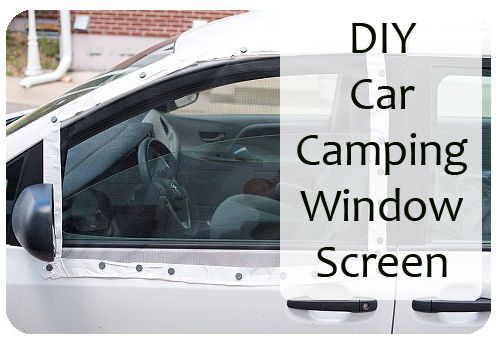DIY Car Camping Window Screen - Van Camping, Minivan Camping  http://adventuresofrayna.com/diy-car-camping-window-screens/  Travel Tips