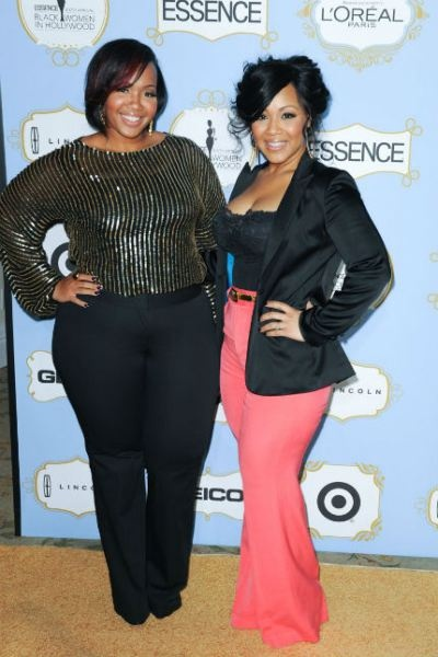 Love these outfits!    Stylist Goo Goo walks the red carpet with celebrity client, Erica Campbell.