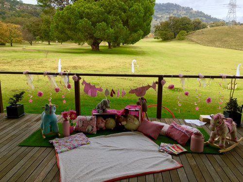 Baby's 1st Birthday Party. Kids farmyard play area.