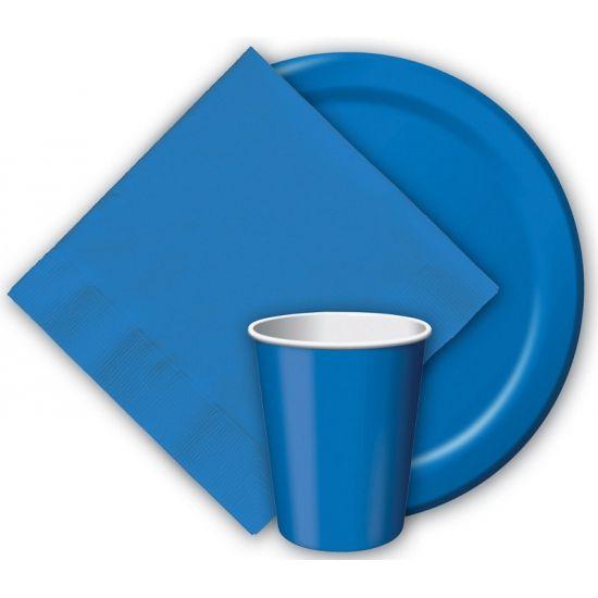 Kartonnen blauwe borden 23 cm  Blauwe borden. Deze blauwe wegwerp borden zitten verpakt per 8 Stuks. De blauwe feest bordjes hebben een diameter van 23 centimeter. Het materiaal van deze blauwe bordjes is stevig karton.  EUR 2.95  Meer informatie