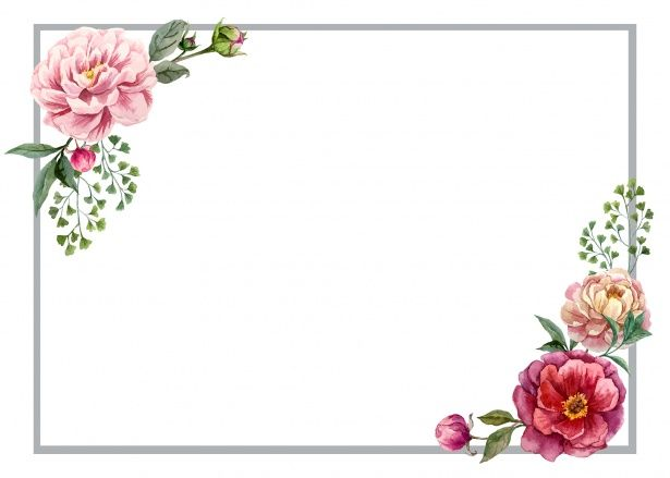 Scandinavian Print Trendy Invite Girls Floral Invite