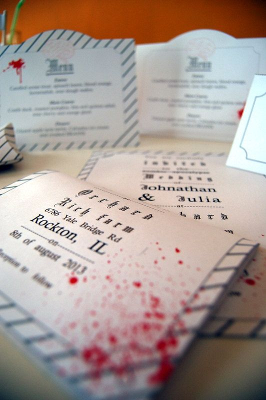 Zombie Wedding Decorations  Printable by Geekist on Etsy, €10.00