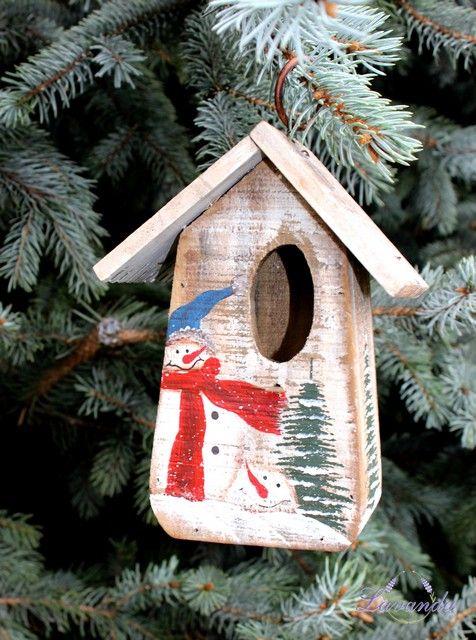 Vtáčia búdka Vianoce