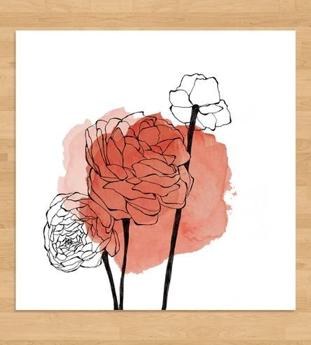 Ranunculus Watercolor Spot Art Print by Morgan Kendall Art on Scoutmob Shoppe