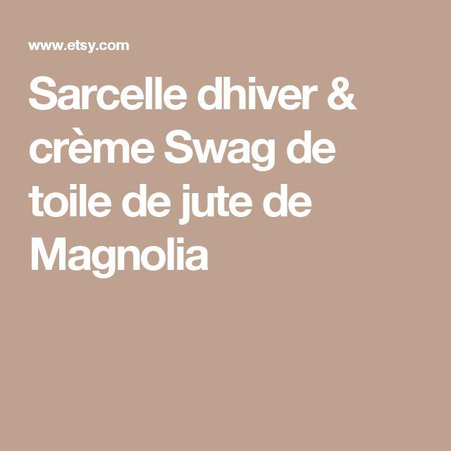 Sarcelle dhiver & crème Swag de toile de jute de Magnolia