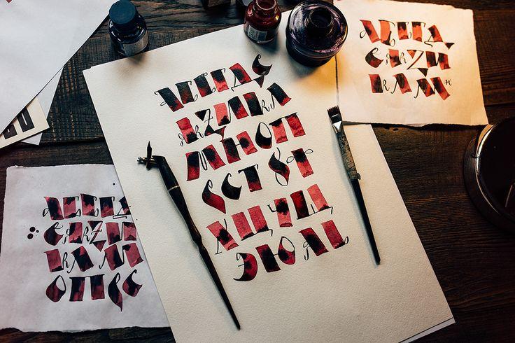 https://www.behance.net/gallery/41638543/CalligraphyLettering-Set-1