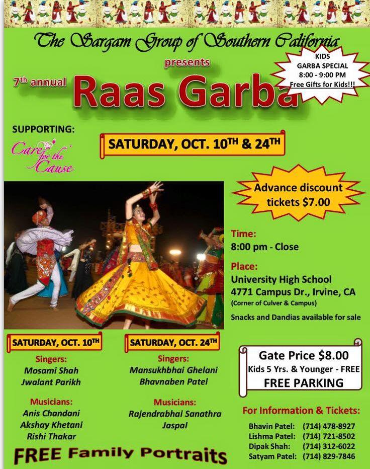 2015 Sargam Garba - University High School, Irvine October 10th and 24th, 2015