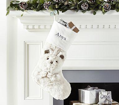 Polar Bear Faux Fur Stocking Polar Bears Stockings And