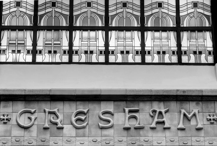Detail shot of the entrance of the Gresham Staircase.