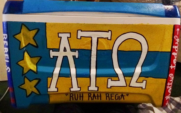 fraternity painted cooler. ATO formal 2015 Nola (trink)