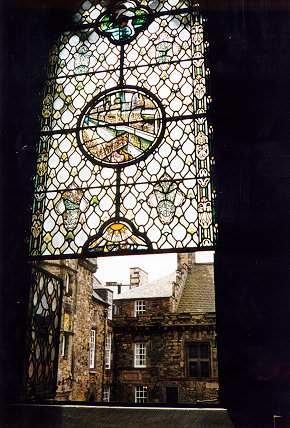 Stained Glass window within Edinburgh Castle, Scotland