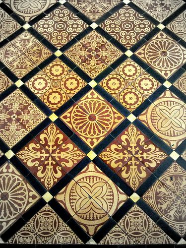 Encaustic Floor tile in the Quire, via Flickr.